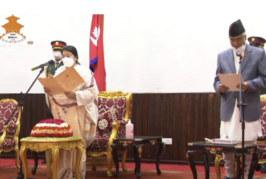 राष्ट्रपतिले देखाइन् गाइजात्रा : शपथपछि प्रधानमन्त्रीलाई बधाईसमेत नदिई हिँडिन्